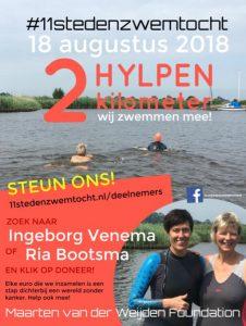 Ria en Ingeborg zwemmen mee @ Hindeloopen