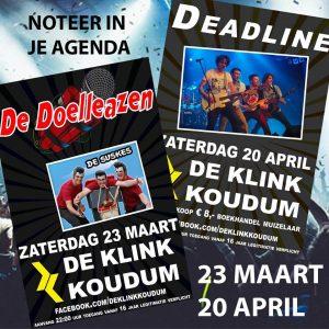 Popavond met Deadline @ De Klink