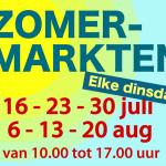 Dinsdag start zomermarkten