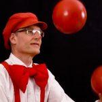 Clown en film op het Centrium