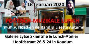 Poëtisch-muzikale lunch @ Lunch-Atelier & Galerie Lytse Skientme