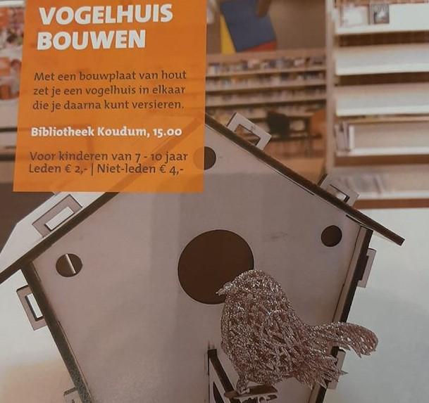 Welp Vogelhuisje maken in bibliotheek – Koudum.nl BH-51