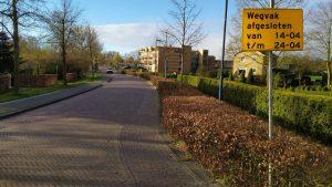 Afsluiting deel Tjalke van der Walstraat @ Tjalke van der Walstraat