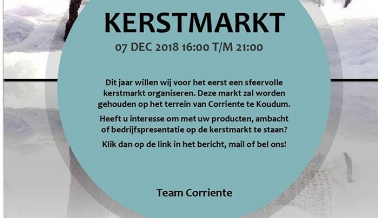 Kerstmarkt Corriente 7 December Koudum Nl